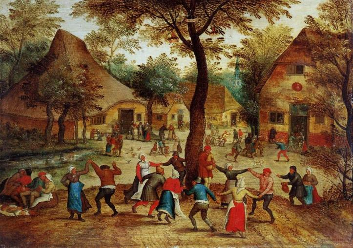 Pieter-Bruegel-The-Younger-Village-Scene-with-Dance-around-the-May-Pole